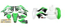 New KXF 450 13 14 15 PTS4 Graphics Sticker Plastic Kit Green Plastics KXF450